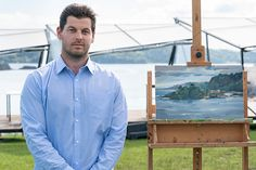 Sky Arts Landscape Artist of the Year Exclusive Heat Winners Interviews Millennium Bridge, Synthetic Brushes, Sky Art, Mark Making, Interview, Landscape, Artist, Scenery, Landscape Paintings