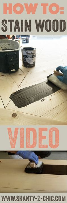 Watch this short video to learn how to get the perfect stained finish every time! Easy to follow instructions at www.shanty-2-chic.com