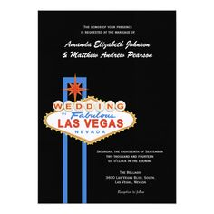 Shop Las Vegas Sign Wedding Invitation created by EnchantfancyStudios. Vow Renewal Invitations, Destination Wedding Invitations, Wedding Invitation Design, Vegas Themed Wedding, Las Vegas Weddings, Wedding Themes, Las Vegas Sign, Las Vegas Blvd, Zazzle Invitations