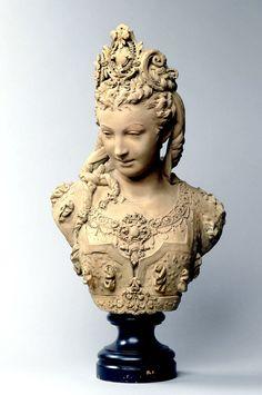 Albert-Ernest CARRIER-BELLEUSE, Buste de femme portant un diadème, entre 1860 et 1870. Acquisition, 2010. RF 2010 5. ©photo musée d'Orsay / rmn