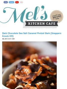 Dark Chocolate Sea Salt Caramel Pretzel Bark