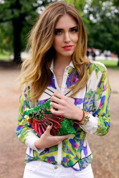 floral shirt with pants is always a chic look for casual friday....love