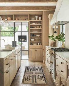 Lulu and Georgia (@luluandgeorgia) • Instagram photos and videos Home Design, Zen Design, New Kitchen, Kitchen Dining, Kitchen Decor, White Oak Kitchen, Neutral Kitchen Cabinets, Neutral Kitchen Colors, Neutral Kitchen Designs