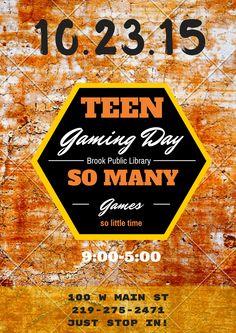 Teen Gaming Day