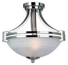 Yosemite Home Decor 98321A-2SN Sequoia Two Light Ceiling Semi-Flush Mount, Satin Nickel by Yosemite Home Decor. $144.00. From the Manufacturer                This model from the Sequoia collection by Yosemite Home Decor is an elegant piece. Its satin nickel frame couples with its frosted alabaster glass for that sleek design, making it an excellent choice for the highly urbanized home. Its two medium-based, 100-watt, incandescent bulbs (not included) provide very good ambi...