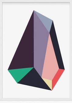Creative Art, Crystal, and Illustration image ideas & inspiration on Designspiration Illustration Cristal, Illustration Art, Diamond Illustration, Design Illustrations, Geometric Designs, Geometric Art, Geometric Poster, Art Design, Graphic Design