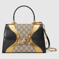 Gucci Osiride Small Gg Top Handle Bag In Metallic Gucci Purses, Burberry Handbags, Chanel Handbags, Luxury Handbags, Leather Handbags, Gucci Gucci, Designer Handbags, Metallic Handbags, Designer Purses