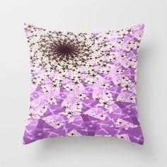 Orchid Digital Nebula  Throw Pillow by  RokinRonda - $20.00