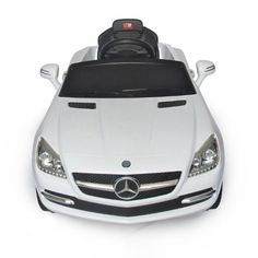Mercedes-Benz SLK Kids 6v Electric Ride On Toy Car w/ Parent Remote Control - White