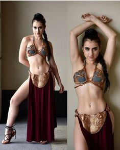 The lovely @karrigan.taylor as #slaveleia ! Photo by @jmw_photography_59 ! Check out their pages and show them some love. #cosplay #cosplayer #cosplaying #cosplaygirl #slaveleia #princessleia #starwars #empirestrikesback #followher #followthem