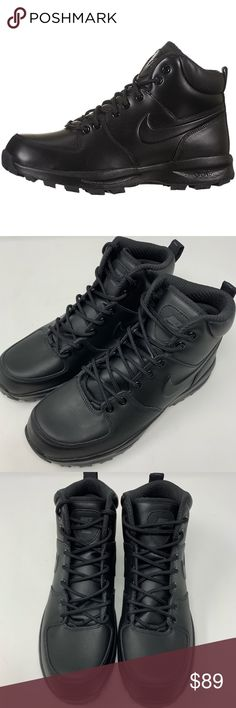 buy online d3ab5 8bf57 Nike Manoa Leather Mens Boots - Black Part of the Nike ACG (All Conditions
