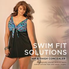 Find the perfect swim fit for you! Our Hip & Thigh Concealer plus size swimwear is flattering and stylish! Big And Beautiful, Beautiful Women, Swimwear 2015, Plus Size Swimwear, Clothes Horse, Concealer, Thighs, Rock, Stylish