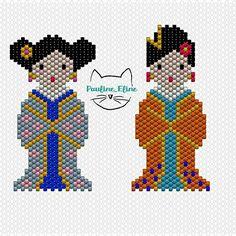 J'avais fait un deuxième diagramme pour la geisha, mais je n'ai pas envie de la faire pour l'instant... Je vous la mets quand même si ça tente quelqu'un ! #jenfiledesperlesetjassume #miyukibeads #miyuki #perle #perlesaddict #diagrammeperles #beadpattern #geisha #kokeshi #motifpauline_eline #brickstitch