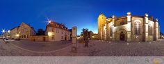 Panorama zur Blauen Stunde Stadtkirche Bayreuth
