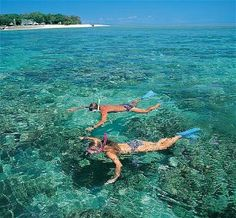 Snorkling with a loved one or friends.