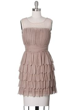 Daydream Believer Dress, Modcloth Style, Nude, Cocktail, Tiered, Juniors, Beige #ModclothStyle #Tiered #Cocktail