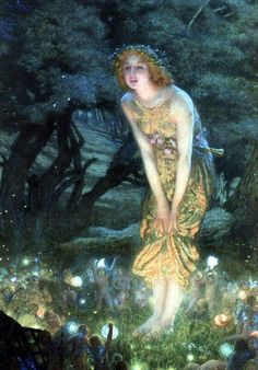Edward Robert Hughes - Midsummer Eve, ca. 1908. I'm absolutely in love with this.
