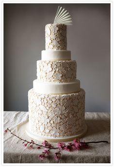 wow, looks like lace!  Don't need so many tiers though, one makes enough of a statement on it's own