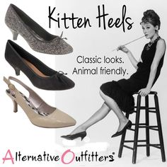 Cute women's vegan kitten heels for fall! #vegan shoes