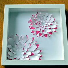 3d Paper Art, Diy Paper, Paper Crafts, Flower Crafts, Diy Flowers, Shadow Box Art, Paper Quilling Designs, Origami Art, Flower Making