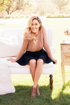 'Chic Peek: My October Kohl's Collection' | Lauren Conrad. A well-styled version of knit sweater/skirt combination, I think.