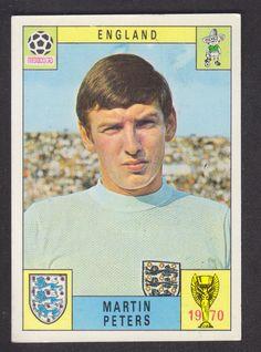 Panini - Mexico 70 World Cup - Martin Peters - England in Sports Memorabilia, Football Memorabilia, Trading Cards/ Stickers, 1970s | eBay