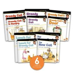 The Greedy Cat Big Book Combo Set contains a copy of each of the 5 big books in the Joy Cowley Classics series, plus 6 copies of each of the 5 matching leveled readers. This combo set offers a total of 5 big books and 30 small books. Guided reading level range: D–G. Leveled Readers, Guided Reading Levels, Shared Reading, Small Book, First Grade Classroom, Read Aloud, Book Collection, Nonfiction, Big Books