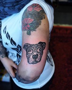 #dayofthedead #dog #tattoo