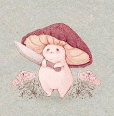 Pretty Art, Cute Art, Dessin Old School, Arte Peculiar, Mushroom Art, Poses References, Hippie Art, Sketch Art, Psychedelic Art