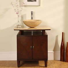 Silkroad Exclusive Travertine Stone Top 29-inch Bathroom Vanity - Overstock™ Shopping - Great Deals on Silkroad Exclusive Bathroom Vanities