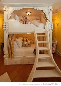 Home Furnishings: Free plans for this adorable Sweet Pea Bunk Bed for a little girl's room. Description from pinterest.com. I searched for this on bing.com/images