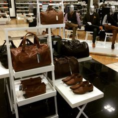 Men's mannequin grouping and styling for men's accessories. Visual merchandising work