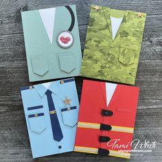 Masculine Birthday Cards, Birthday Cards For Men, Man Birthday, Masculine Cards, Tarjetas Stampin Up, Stampin Up Cards, Men's Cards, Military Cards, Dress Card