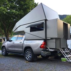 "famaro op Instagram: ""New color for our famaro camper cabin! We call it taupe. How do you like it? . . #famaro #offroadcamper #camper #pickupcamper #swissmade…"""
