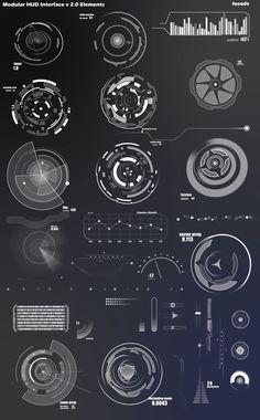 Infographics , UI Design et Web Design - Modular HUD Interface v Layout - CoDesign Magazine Web Design, Layout Design, Game Ui Design, Graphic Design, Site Design, Flat Design, Gui Interface, User Interface Design, Ui Elements