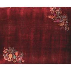 1stdibs | Walter Nichols Vintage Chinese Art Deco Plush Red Rug