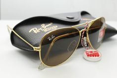 black lens ray bans ysv6  gold frame black lens ray ban aviators