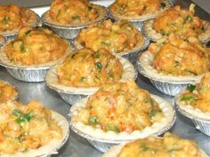 New Orleans Style Crawfish Pies . I love making these around Thanksgiving and Christmas. My pies do look like this picture. I load my pies up with crawfish and shrimps. Look for the Justin Wilson's crawfish pies recipe. Crawfish Pie, Crawfish Recipes, Cajun Recipes, Pie Recipes, Seafood Recipes, Great Recipes, Cooking Recipes, Favorite Recipes, Crawfish Cornbread
