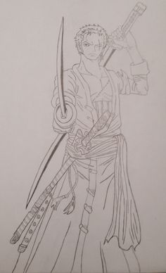 Roronoa Zoro, One Piece. By: Nuri
