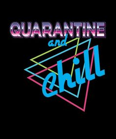 'Quarantine and chill cool retro neon ' by handcraftline Long Hoodie, Wood Print, Chill, Classic T Shirts, Neon Signs, Cool Stuff, Retro, Products, Cool Things