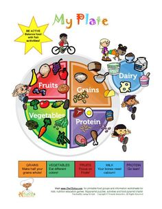 MyPlate for toddlers:  The Foods That Belong To My Plate Food Groups