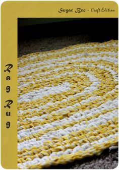 here's how to make a rug out of sheets - love this! Sugar Bee Crafts: Rag Rug Tutorial
