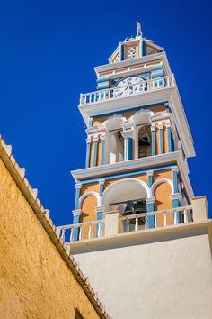 The Iconic Fira Clocktower