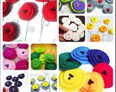 Value pack felt flowers applique poppy pick any 50 of 2 inch poppies choose color europeanstreetteam