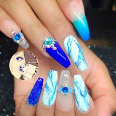 Acrylic nails are always in. There are many new and fun designs for acrylic fingernails. Check out these trendy designs and pin your faves for later.