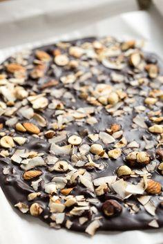 "Crazy Good Coconut Oil ""Chocolate"" Bark #chocolate #coconutoil #recipe"