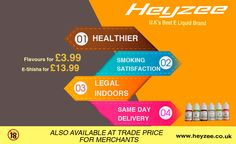Heyzee - UK's best E Liquid Brand.  www.heyzee.co.uk