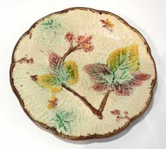 19th Century Antique Handpainted Majolica Pottery Plate | eBay