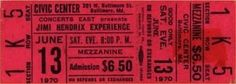 Baltimore Civic Center, June 13, 1970. Were You Experienced there?