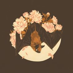 Teagan White — Small bat friend painting for my show with Nicolas. Kunst Inspo, Art Inspo, Art And Illustration, Drawn Art, Guache, Art Graphique, Art Reference, Amazing Art, Concept Art